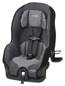 evenflo tribute lx best convertible car seat for small cars